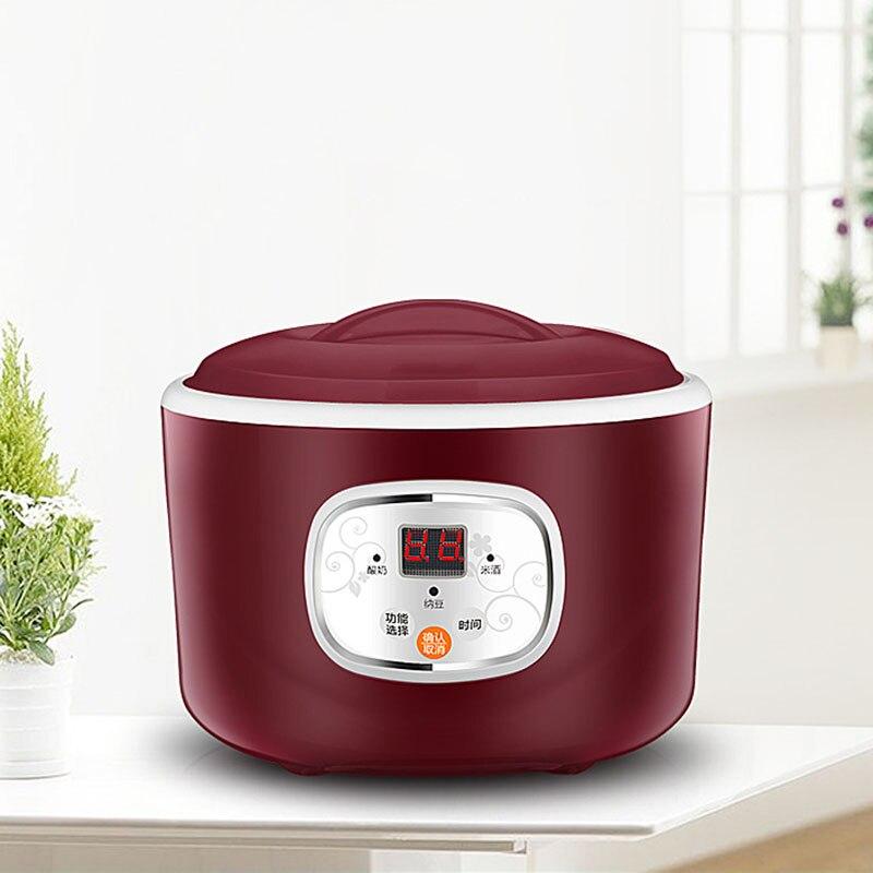 Yaourtière 1L automatique Machine à yaourt ménage bricolage yaourt outils appareil de cuisine en acier inoxydable réservoir violet vert 220 V