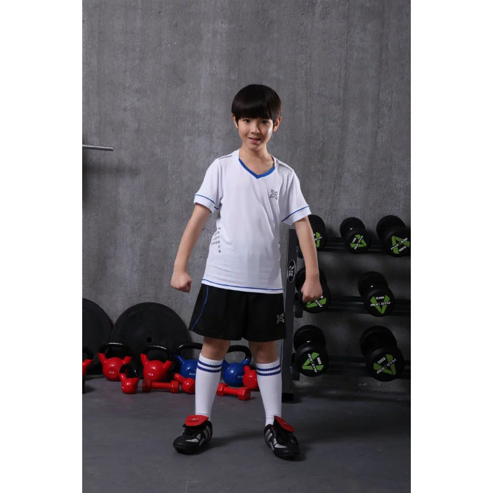 boy training short sleeve soccer jerseys breathable running sets sportswear football team kits girls children sets JJS X-1605