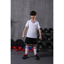 boy training short sleeve soccer jerseys breathable running sets sportswear football team kits girls children sets JJS X-1605