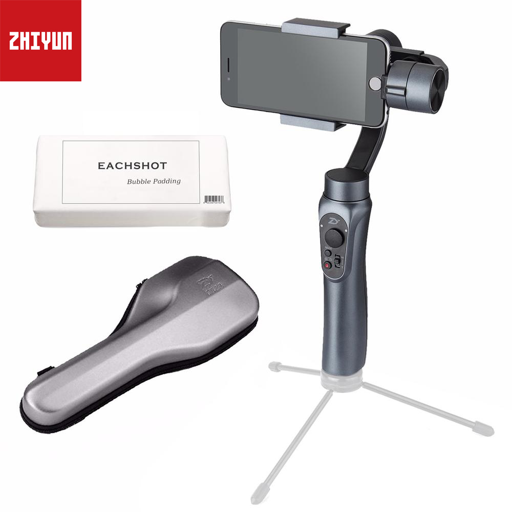 Zhiyun Smooth Q 3-Axis Handheld Gimbal Stabilizer for iPhone X 8+ 7 Plus 6 Plus Samsung Phone Wireless Control (Smooth Q Grey) feikuer stabilizer 2 axis brushless handheld gimbal for smart phone and iphone 6 plus