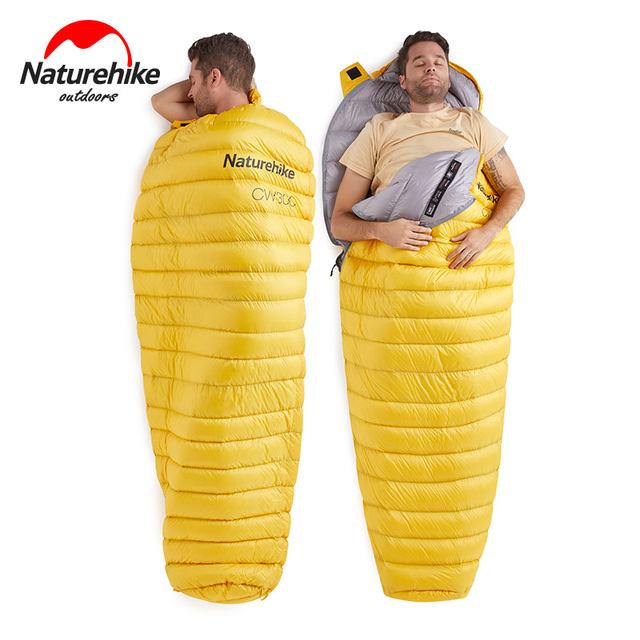 Naturehike Outdoor Goose Down Mummy Sleeping Bag Camping Hiking Climbing Ultralight Down Sleeping Gear Bed NH18S300-D 3