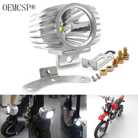 LED moto light Car External Headlight 15W White High/Low Motorcycle DRL Headlamp Spotlight Drive Fog Spot Lights DC12V/24V refit