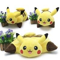 40cm New Kawaii Pikachu Plush Toys Baby Soft Pikachu Pillow Cartoon Pikachu Sleep Cushion Stuffed Animal Doll Kids Best Gift Toy