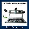 cnc 2418 + 2500mw laser,cnc engraving machine,Pcb Milling Machine,Wood Carving machine,diy mini cnc router,cnc2418,GRBL control