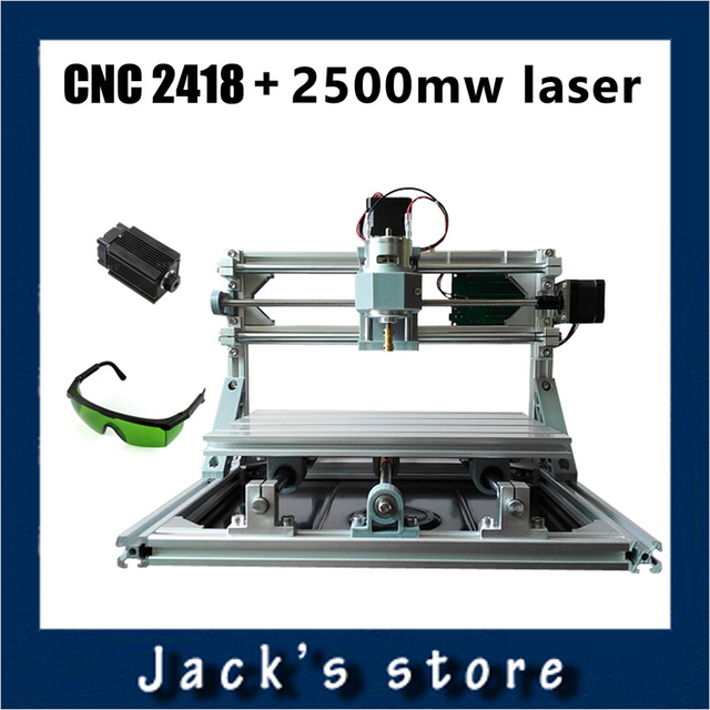 cnc 2418 + 2500mw laser,cnc engraving machine,Pcb Milling Machine,Wood Carving machine,diy mini cnc router,cnc2418,GRBL control