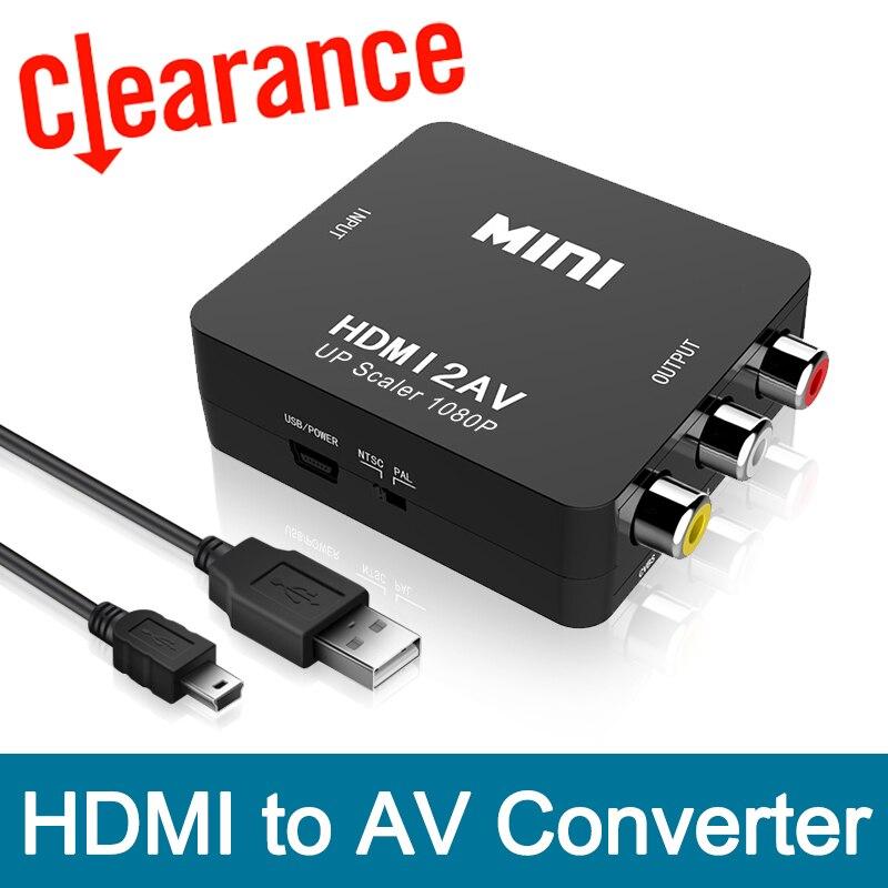 HDMI to RCA AV Converter HDMI to AV adapter Android TV Smart Box Laptop Chromecast for