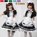 Siervo Mujeres Cosplay Del Partido Negro Lolita Disfraces de Halloween Para Adultos Mujeres Sissy Maid Uniforme Sexy Trajes Franceses de la Criada