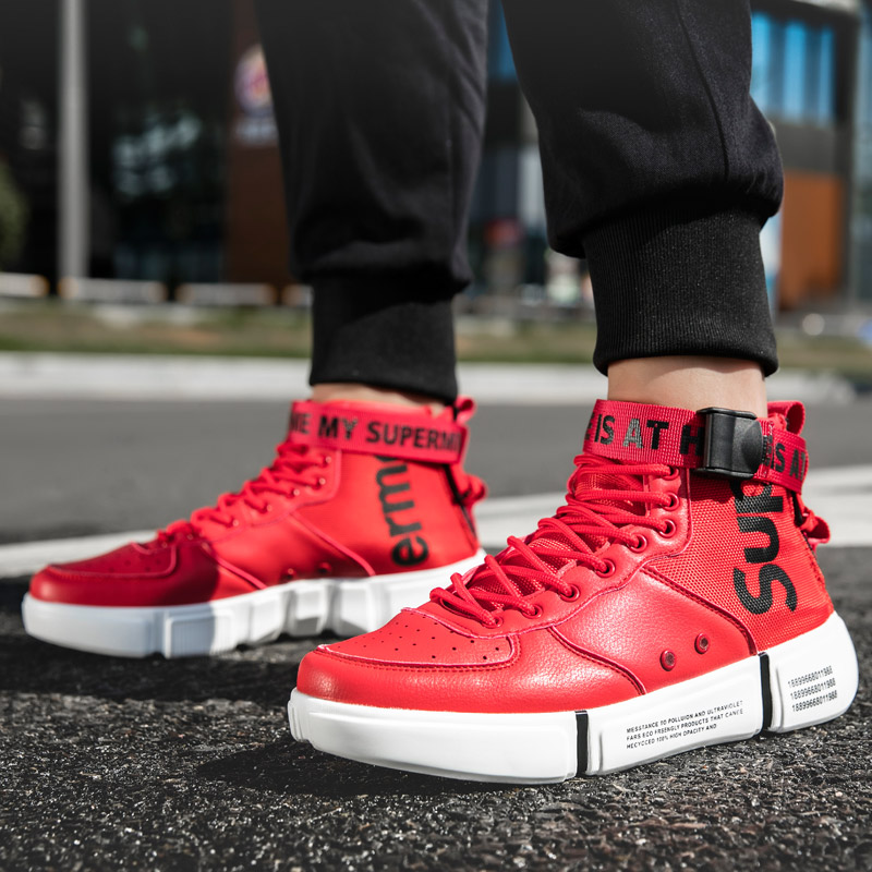 b912910e4097 Detail Feedback Questions about Men Casual Shoes High Top Shoes Men s Flats  Fashion Sneakers Man Footwear Hip hop Platform Shoes Basket Homme Zapatos  Hombre ...