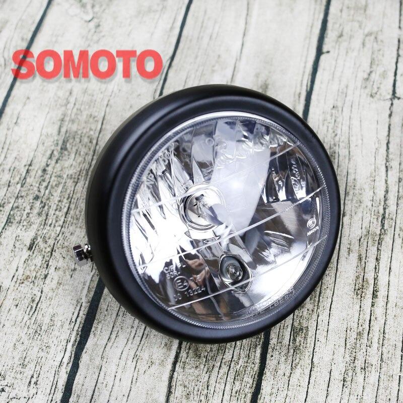 Винтаж мотоцикл фары дальнего света Нижняя beam E4 H1 лампы, 12 В 35 Вт супер яркий шарик для ремонта мотоцикл фар
