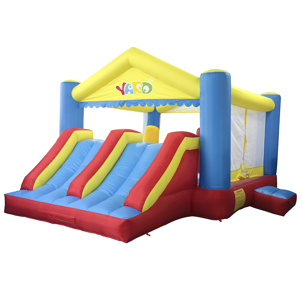 Free PE Balls Blower YARD Inflatable Bouncer Trampoline Double Slides Home Use Inflatable Castle Ship By Express Christmas Gift