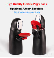 Japanese style no face male cartoon version piggy bank electronic music saving box cans coin storage tank 023