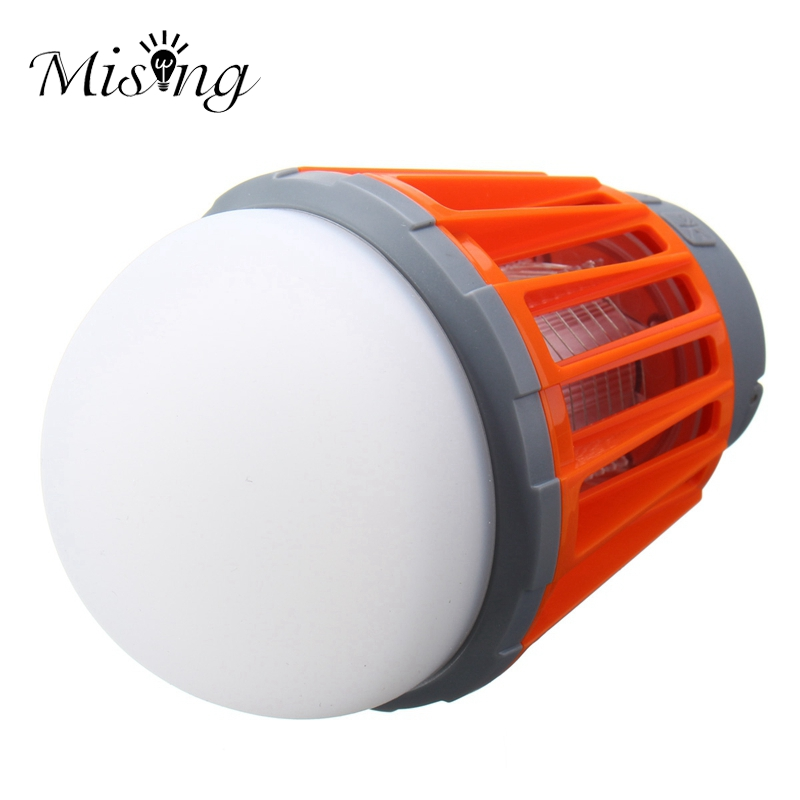 Mising Light Bulb USB Charging LED Mosquito Killer Lamp Waterproof Camping Light Portable Lantern Lamp