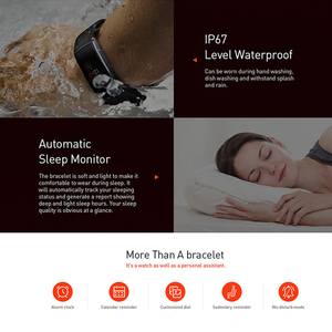 Image 3 - Letine Smart Bracelet Heart Rate Monitor Touch Color Screen Sports Fitness Tracker I6 PRO C Smart band IP67 2019 Wristband