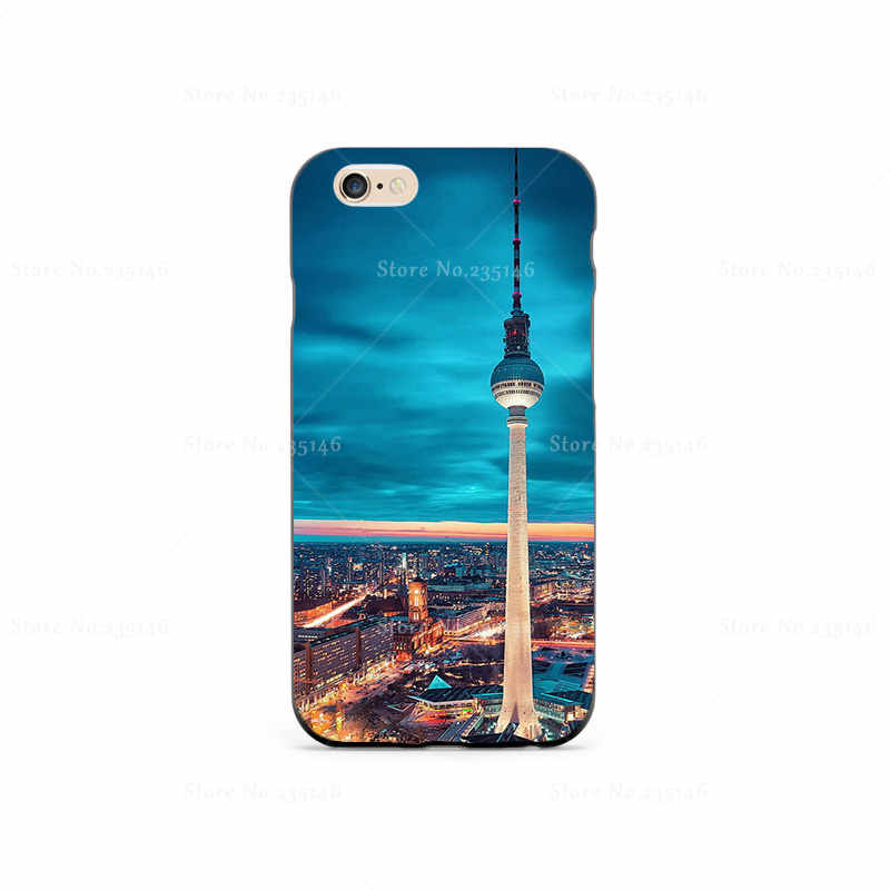 German Capital Plastic Protective Shell Skin Bag Case For iPhone4s 5s 5c 6plus 6Splus 5.5 Cases Hard Back Cover