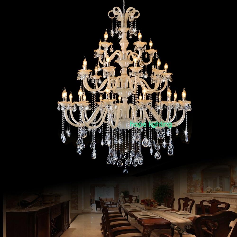 Lustre en cristal moderne chambre Antique luxueux grand lustre en cristal pour hôtel de luxe lustre en cristal hall lampe à LED