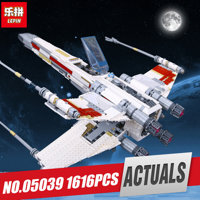 Lepin 05039 Star Series The X Wars wing Red Five Starfighter Educational Building Blocks Bricks Christmas Gift Legoing 10240 Toy lepin 05039 star wars red five x wing starfighter figure blocks construction building bricks toys for children compatible legoe