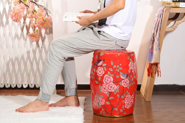 Terrific Us 98 0 Chinese Red Floral Porcelain Decorative Ceramic Garden Stool In Stools Ottomans From Furniture On Aliexpress Com Alibaba Group Caraccident5 Cool Chair Designs And Ideas Caraccident5Info