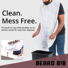 Beard Care Shave Apron Bib Trimmer Facial Hair Collecting Man Shaving Trimming Catcher & Grooming Cape No more Mess