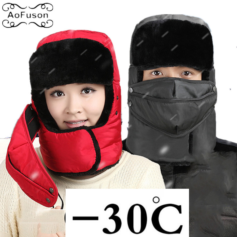 Ski Bibs Scarf Hat Winter Warm Snow Skiing Cycling Snowboard Windproof Men Women Thicken Ear Protection Scarf+Cap Mask