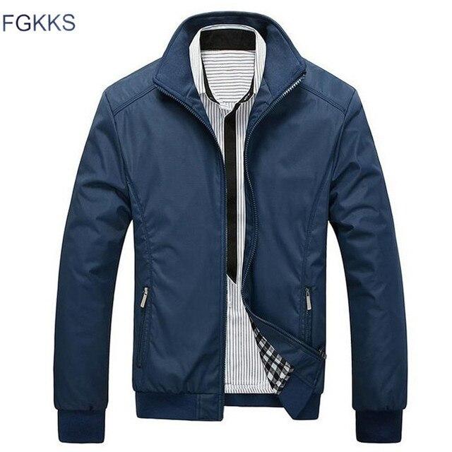 Fgkks Новинка весны куртка Для мужчин модные Повседневное свободные Для мужчин S куртка спортивная Курточка бомбер Для мужчин S Куртки и Пальто для будущих мам мужской