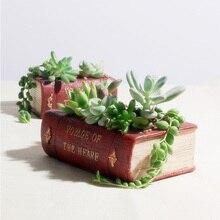 Vintage Resin Suitcase Flowerpot Succulent Plants Planter Luggage Flower Pot Storage Box Home Garden Decoration Bonsai