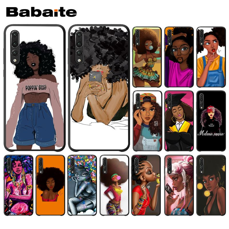 Selfless Babaite Queen Afro Melanin Poppin Girl Black Phone Case For Huawei P20pro P20lite Mate20pro Mate20lite P10 Honor10 Mate10lite Consumers First Clothing, Shoes & Accessories