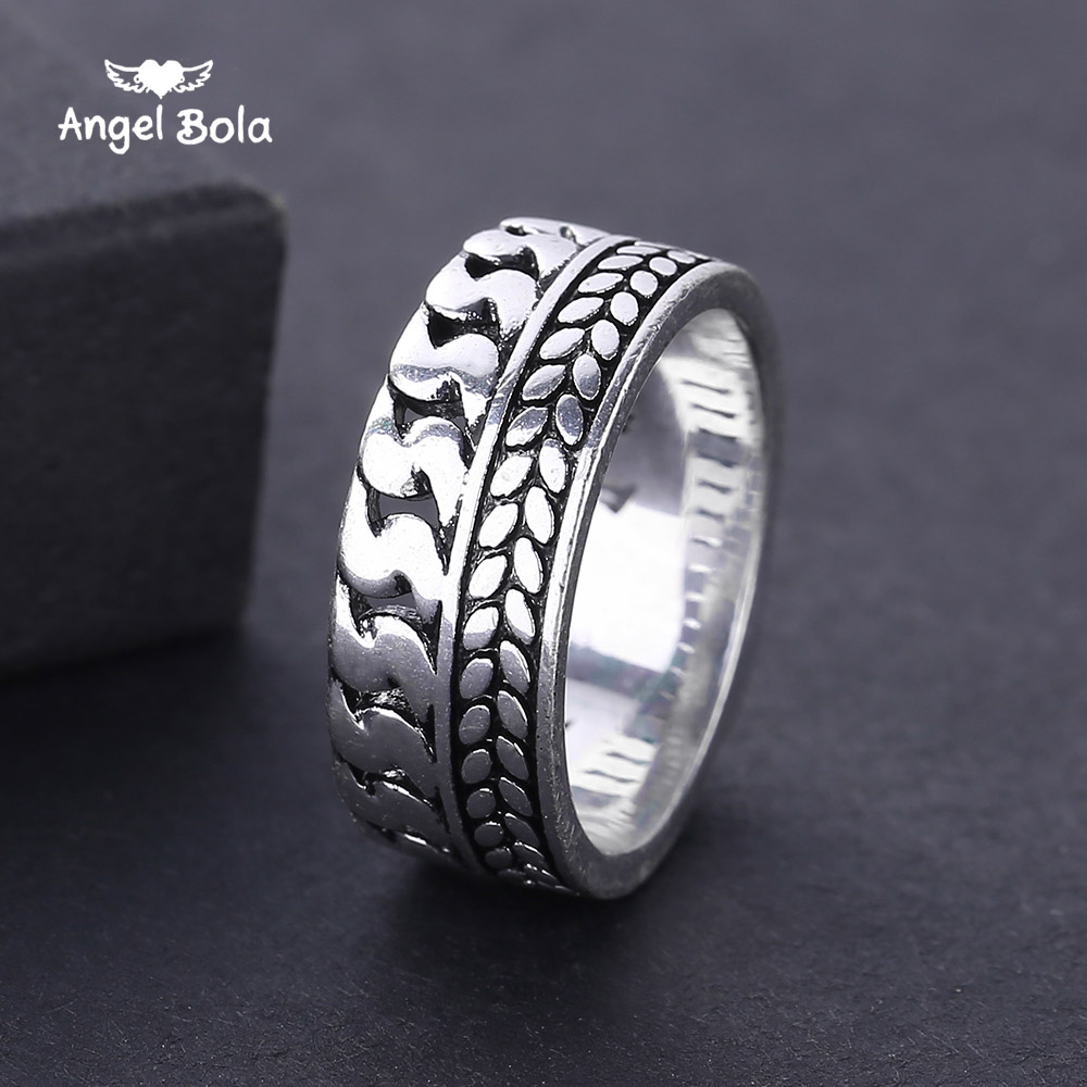 2018 New Personalized Punk Rock Buddha Rings Ancient Silver Mens Biker Rings Vintage Gothic Ring Jewelry for Men Gifts