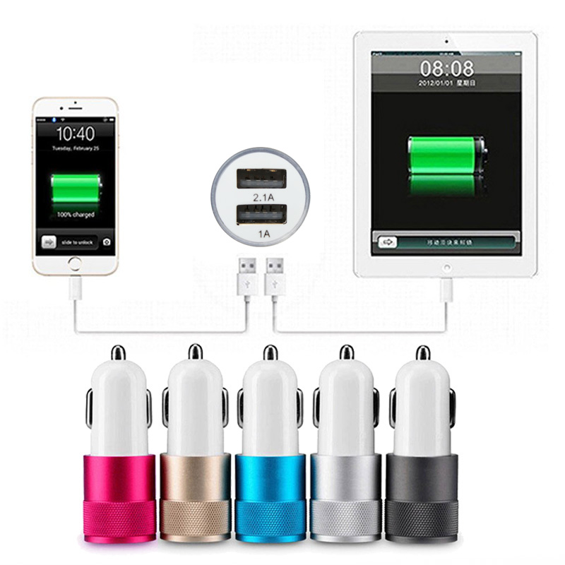 For iPhone 6 6s 5 5s Car Charger for Mobile Phones, Dual USB Charger Smart for Xiaomi Huawei Meizu, for LG HTC Nokia etc