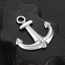 Stainless Steel Anchor Pendant Hole 5mm for Necklace DIY Bracelet Hooks Accessories Findings Jewelry Making Men Charms Supplies