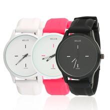 Tender Silicone Jelly Band Quartz Wristwatch for Women Black White Dial Lovers Style Elegant watch Ladies Women