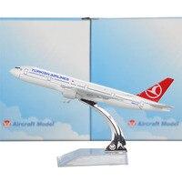 Turkish Airlines Boeing 777 300 16cm Model Airplane Kits Child Birthday Gift Plane Models Toys Free