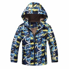 Waterproof Index 5000mm Winter Children Outerwear Warm Child Coat Double-deck Windproof Boys Jackets For 3-12 Years Old