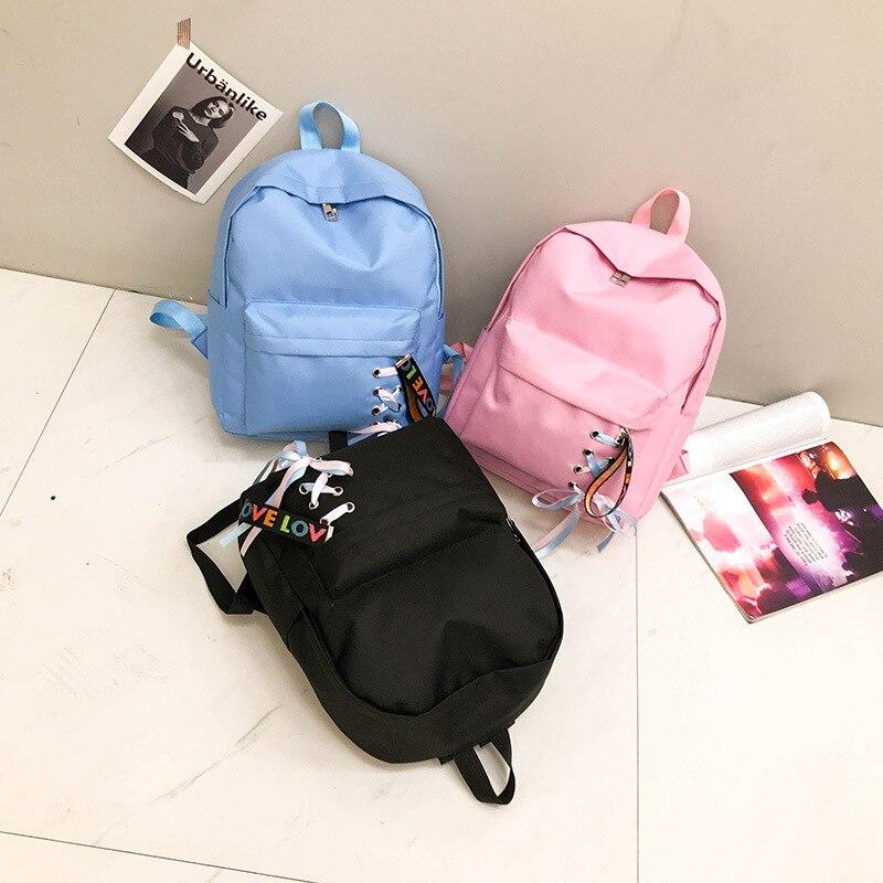 Schweißbänder Damentaschen Handtaschen Frauen Koreanische Ausgabe Campus Großvolumen Junior High School Schüler Rucksäcke Männer Reine Farbe Einfache Baitao Kleine Frische