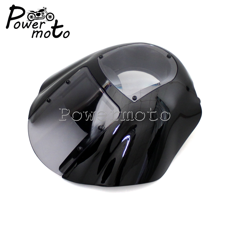 Clear Motorcycle Quarter Front Headlight Fairing for Harley Sportster XL 1200 883 Iron 1986 2017 Dyna Low Rider Super Wide Glide in Windscreens Wind Deflectors from Automobiles Motorcycles