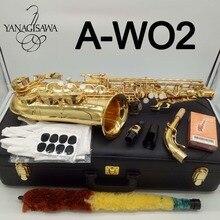 Новый Янагисава альт саксофон A-WO2 золотой лак Профессиональный альт-саксофон с случае Reeds шеи мундштук