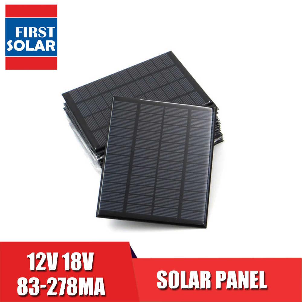 Tấm Pin Năng Lượng Mặt Trời 12V Xe RV Pin 12VDC 150mA 160mA 167mA 208mA 250mA 83mA 278mA 18V Mini Pin Năng Lượng Mặt Trời sạc
