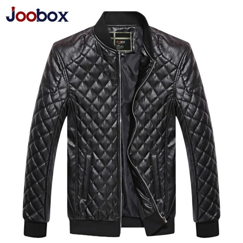 JOOBOX Men PU Leather jacket 2017 O-Neck Slim Motorcycle Leather jackets Jaqueta Couro B ...