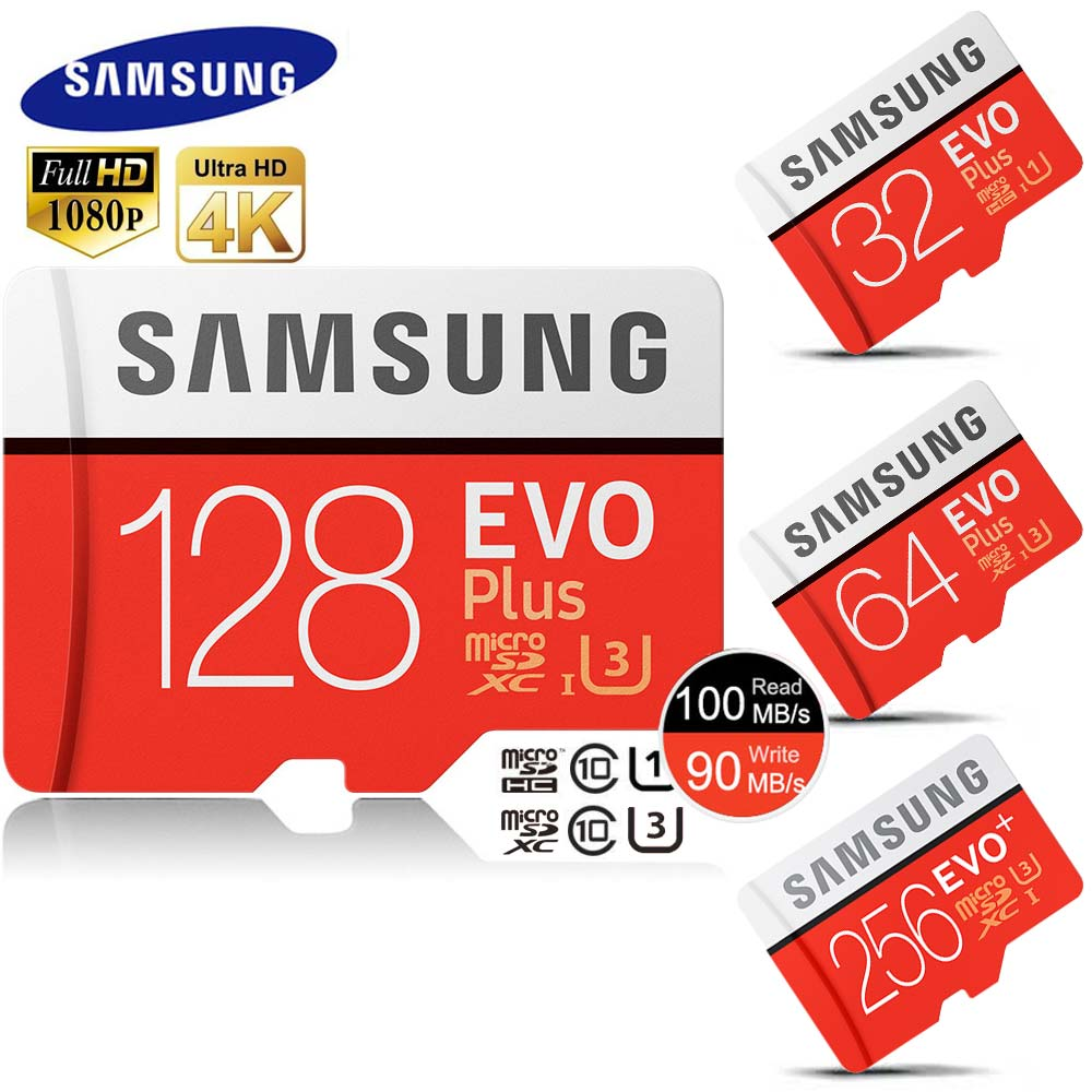Samsung micro sd 32 gb classe 10 u3 uhs-i schede microsdhc 64 gb microsdxc 128b dropship scheda di memoria per 4 k ultra hd moible phone tf carta
