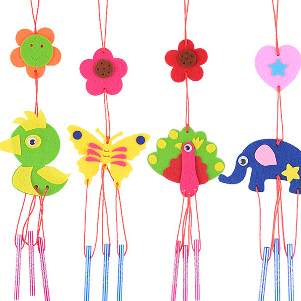 Children Kids DIY Wind Chimes Aeolian Bells Funny Educational Puzzle Toys Crafts Kits Gift Various Styles Random Delivery