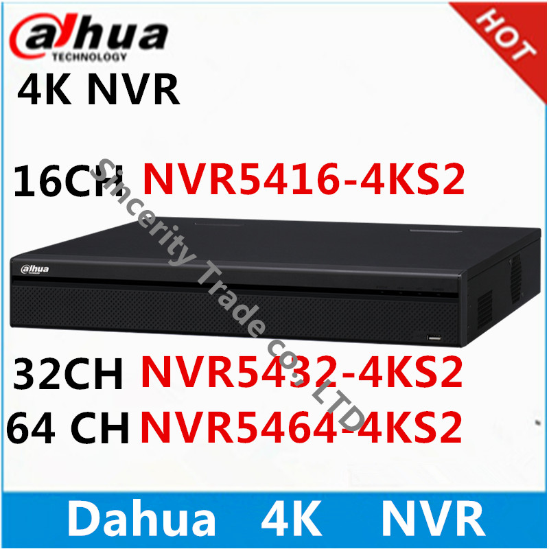 Dahua 4K NVR NVR5416 4KS2 16ch NVR5432 4KS2 32ch NVR5464 4KS2 64ch without POE ports Network