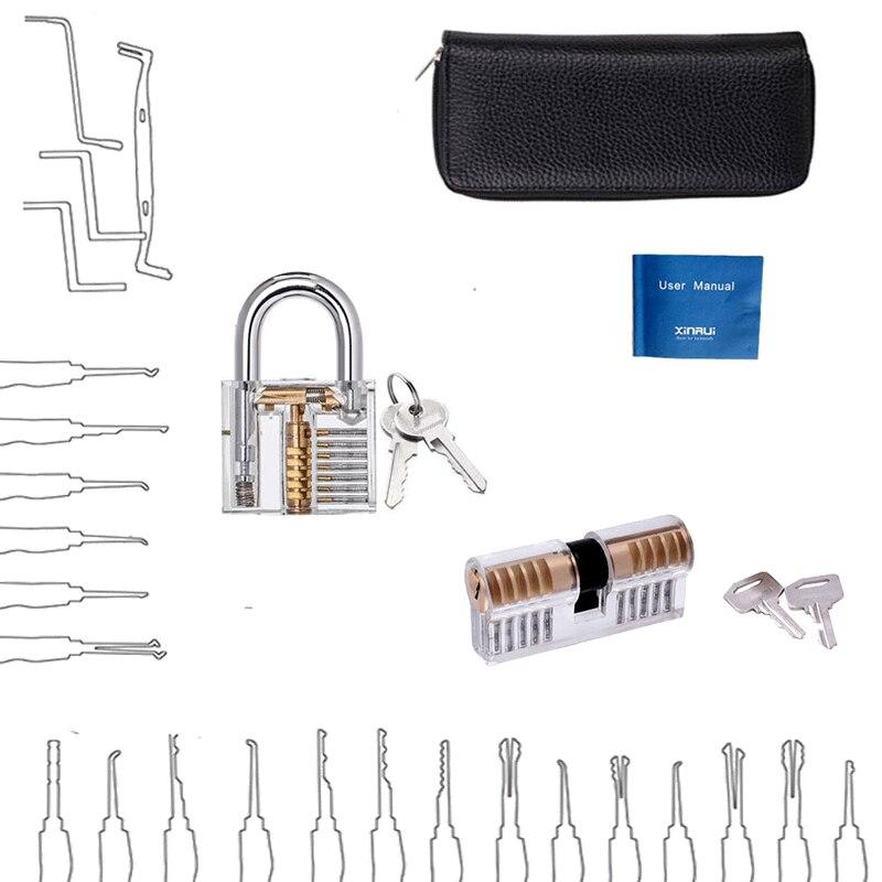 Locksmith Practice Tool Kit Tubular Lock Pick Door Opening Key Remove Hooks LY