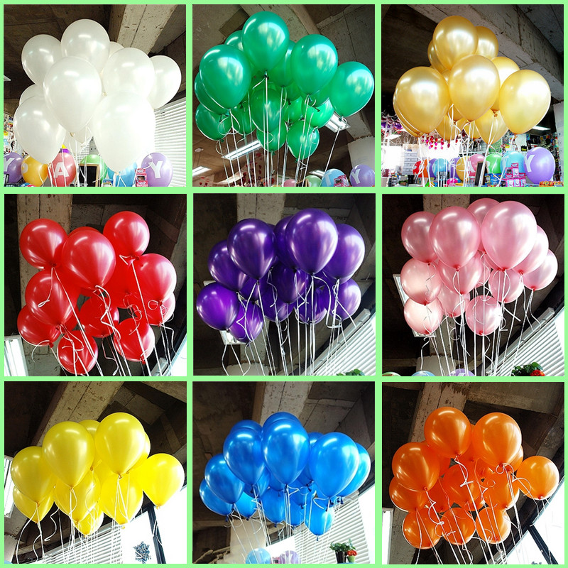 Image 4 - Cheap 50/100pcs 10'' 1.2g Blue&Skyblue Round Shape Latex Pearl Balloon Party Decorate Valentine's Day Birthday Wedding Decoratio-in Ballons & Accessories from Home & Garden