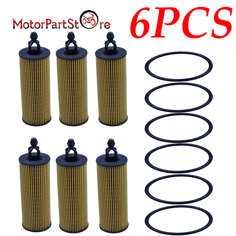Oil Filter Cartridges Gaskets For Ram Chrysler Dodge Jeep