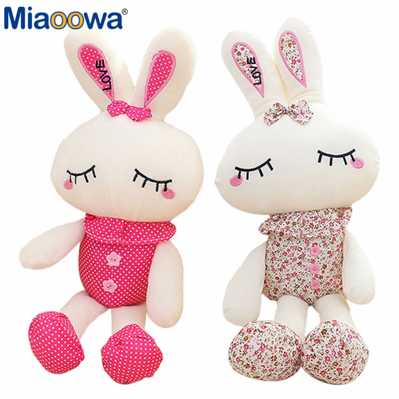 1pc 28cm Cute Rabbit Plush Toy Soft Love Rabbit Toy 2 Styles Stuffed Animal Doll Gifts for Children and Girls