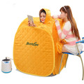 High quality Portable Folding family with three Steam Sauna Box Khan Steam Room+2.0L Sauna Steamer Steam Generator Pot