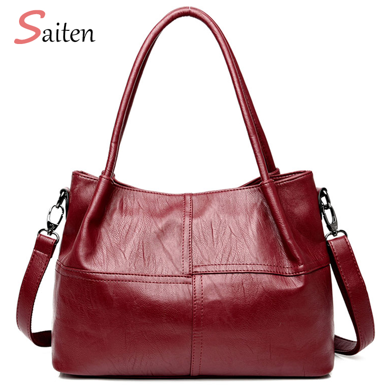 2018 Women Bag Famous Brand Ladies Handbags PU Leather Casual Tote Shoulder Bags Sac New Fashion Luxury Hand Bags Large Tote Bag 2pcs set pu leather women handbags famous brand star tassel women bags large capacity tote bag luxury elegant handbag leather