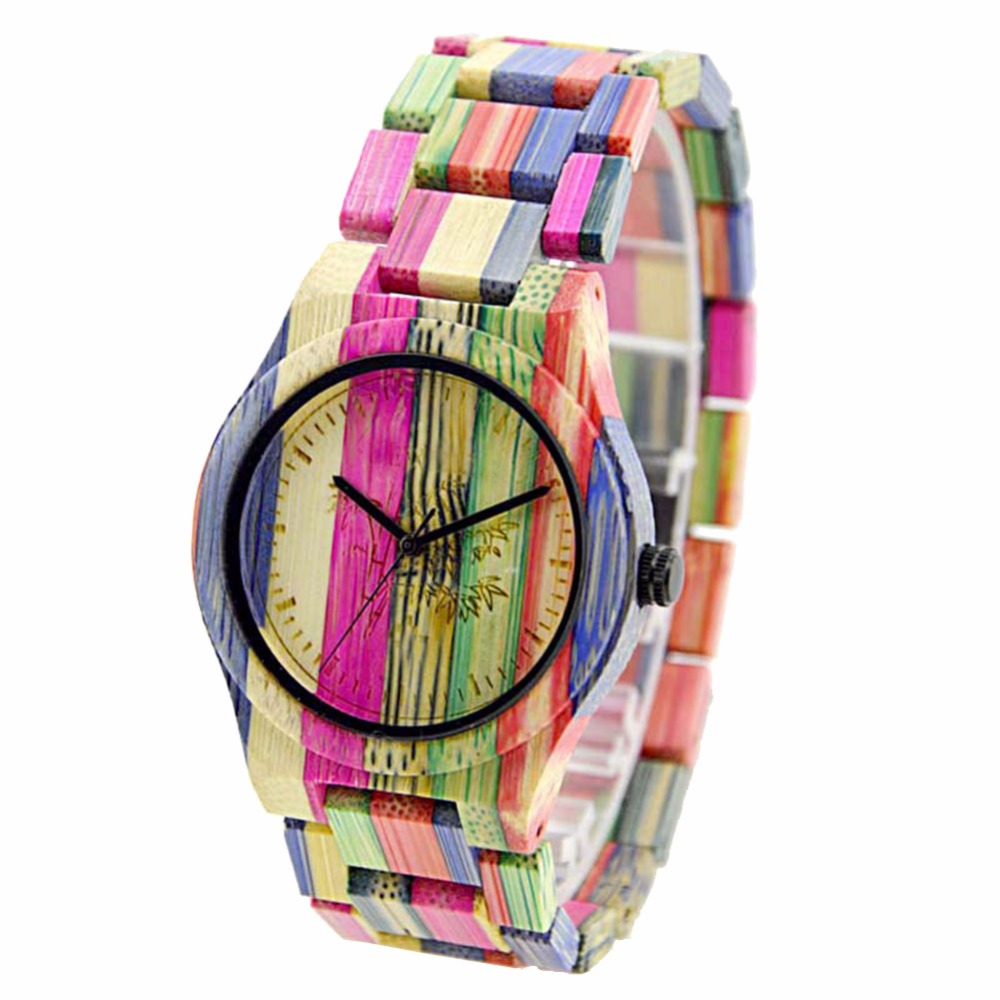 Watches Women Gifts Wood Bamboo Luxury Casual New Full Strap Color Brand Quartz Feminino