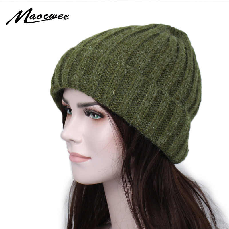 MOSNOW Fisherman Beanie for Men Women Wool Winter Knittted Hat Unisex-Adult Slouchy Baggy Hipster Skull Cap