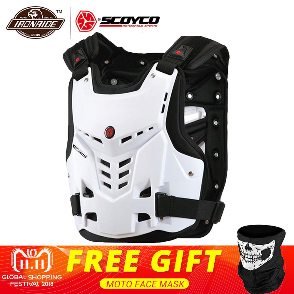 SCOYCO Motorcycle Armor Vest Motorcycle Protection Motorbike Chest Back Protector Armor Motocross Racing Vest Protective Gear herobiker motorcycle armor chest back body armor vest motocross protective gears vest motorcycle jacket moto waistcoat l xl