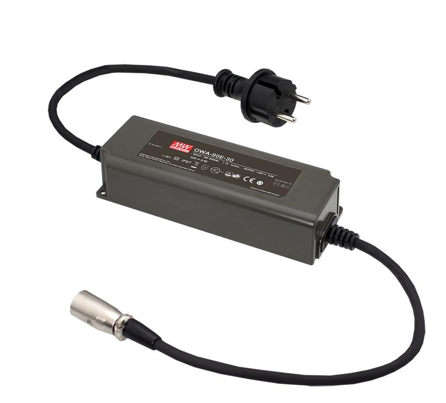 цена на MEAN WELL original OWA-90E-54 54V 1.67A meanwell OWA-90E 54V 90.18W Single Output Moistureproof Adaptor Euro Type